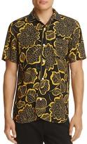 Junya Watanabe Leaf-Print Slim Fit Button-Down Shirt