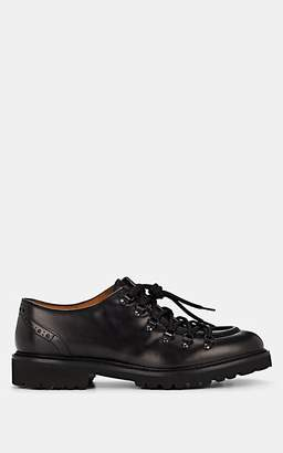 Doucal's Men's Leather Hiking Oxfords - Black