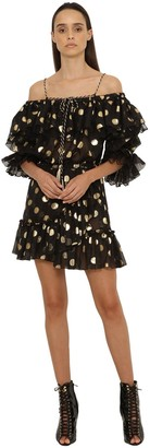 Dundas Ruffled Fil Coupe Mini Dress