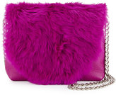Foley + Corinna Stardust Rabbit-Fur Mini Crossbody Bag, Fuchsia