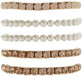 Forever 21 Faux Pearl Stretch Bracelet Set