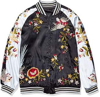 Pete & Greta by Johnny Was Women's Reversible Embroidered Bomber Jacket
