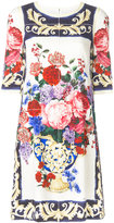 Dolce & Gabbana floral embroidered dress - women - Silk/Spandex/Elastane - 38