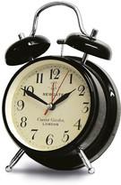 Newgate Clocks - Covent Garden Alarm Clock - Black - Medium
