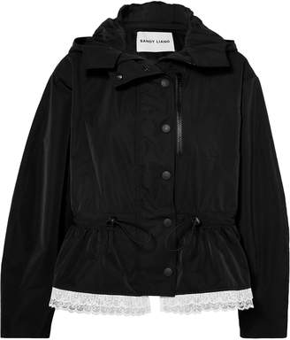 Sandy Liang Cosmo Lace-trimmed Canvas Parka
