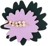 Marni floral crystal brooch