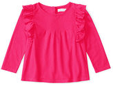 Ralph Lauren Ruffled Cotton Long-Sleeve Top