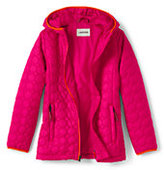 Classic Little Girls Packable Primaloft Jacket-Magenta Rose