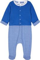 Petit Bateau Striped cotton baby-grow & reversible cardigan set Newborn-12 months