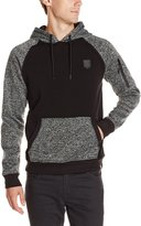 Southpole Men's Marled Pull Over Hoodie with Color Block On Body