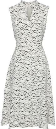Adam Lippes Flared Printed Cady Dress