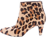 Brian Atwood Leopard Pointed-Toe Ankle Boots