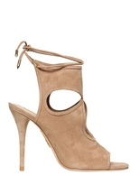 Aquazzura - 110mm Soft Suede Cutout Sandals