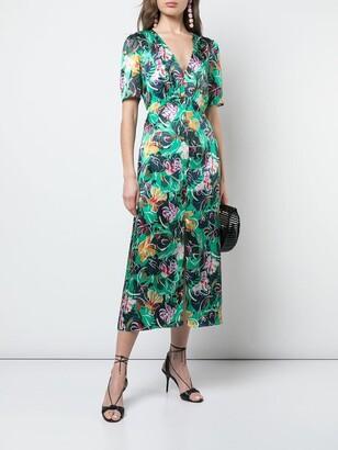 Saloni eden dress green
