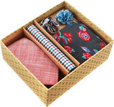 Original Penguin Five-Piece Sock and Tie Box Set, Multi/Red