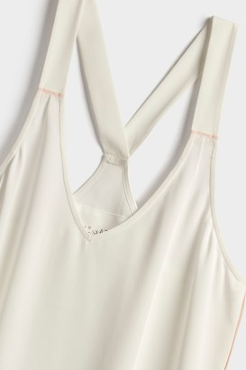 Negative Underwear Supreme Sleep Tank in White + Peach