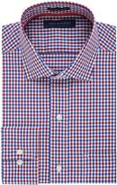 Tommy Hilfiger Men's Regular Fit Non Iron Tattersall, Rouge