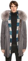 Mr&mrs Italy Raccoon Fur Trimmed Canvas Parka