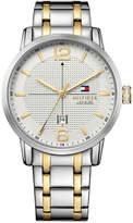 Tommy Hilfiger Men's Casual Sport Two-Tone Stainless Steel Bracelet Watch 44mm 1791214