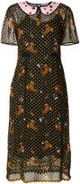 Coach sheer paisley print dress - women - Cupro - 2