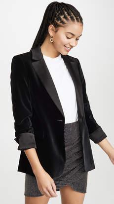 Alice + Olivia Macey Pleated Sleeve Fitted Blazer
