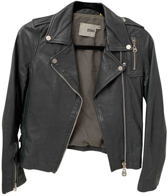 Doma Grey Leather Jacket for Women