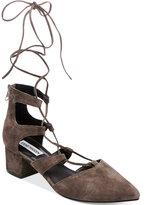 Steve Madden Women's Wishez Lace-Up Block-Heel Pumps