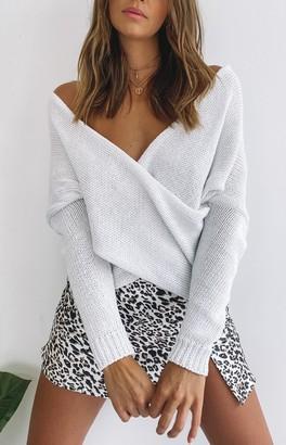 SNDYS Double Crossed Knit Cream