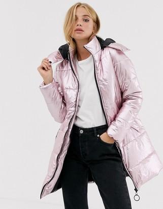 Brave Soul odessa metallic parka jacket