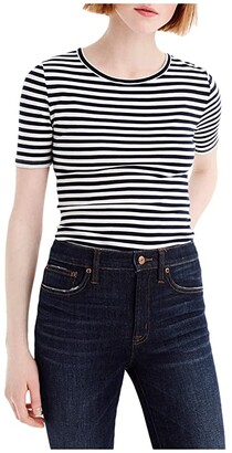 J.Crew Slim Perfect T-Shirt in Stripe (Navy/Ivory) Women's Clothing
