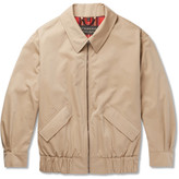 Burberry Runway Oversized Cotton-gabardine Harrington Jacket - Beige