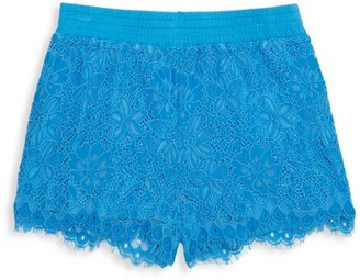 Design History Little Girl's & Girl's Lace Sparkle Shorts