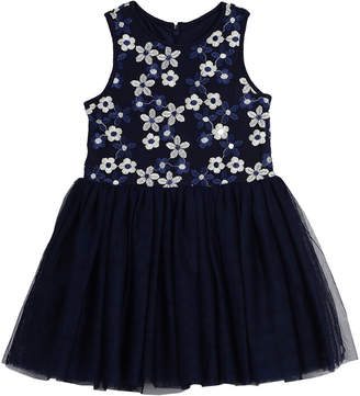 Pastourelle Daisy Embroidered Tutu Dress