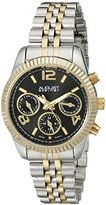August Steiner Women's AS8103TTGB Swiss Quartz with Black Multifunction Dial and Two Tone Bracelet Watch