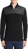 Michael Kors Quilted Wool Quarter Zip Sweater