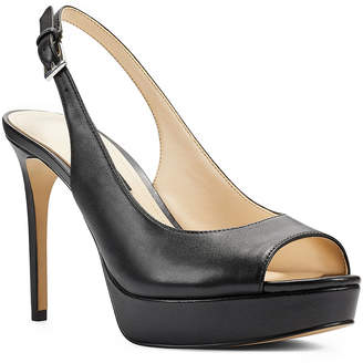 Nine West Women's Pumps BLKLE - Black Elle Leather Slingback Pump - Women