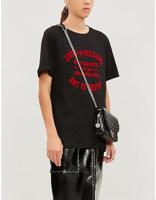 Zadig & Voltaire Bella flocked slogan cotton-jersey T-shirt