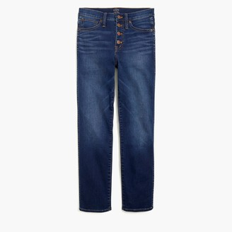 J.Crew Vintage straight jean with button fly in stormy ink