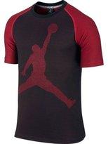 Jordan Nike Men's Jumbo Jumpman Graphic T-Shirt Black/Red Sz