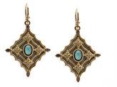 Armenta 18k Glass Mosaic Scroll Drop Earrings w/ Diamonds, Sapphires & Turquoise