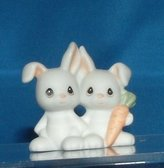 Precious Moments Two by Two Bunnies Figurine 530123