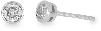 Bony Levy 14K White Gold Bezel Set Diamond Stud Earrings - 0.50 ctw