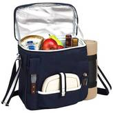 Picnic at Ascot Wine and Cheese Picnic Basket/Cooler & Blanket Navy/White