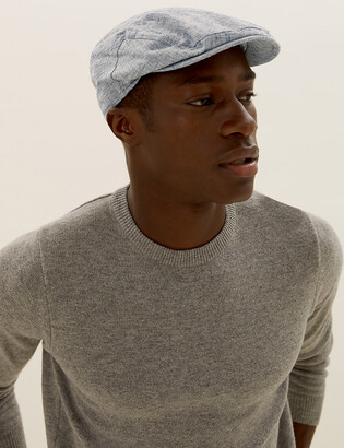 Marks and Spencer Linen Textured Flat Cap