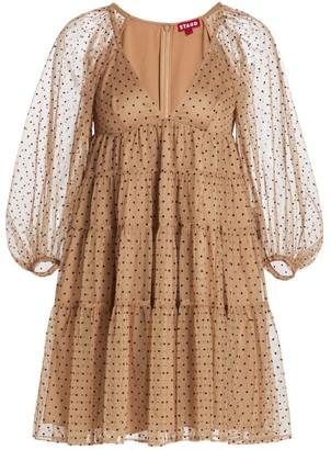 STAUD Meadow Polka Dot Mini Dress