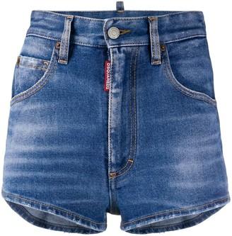 DSQUARED2 woven back denim shorts