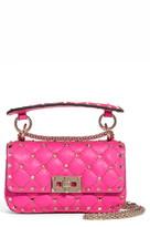 Valentino Garavani Mini Spike It Rockstud Neon Leather Shoulder Bag