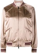 Valentino Rockstud bomber jacket - women - Viscose/Cotton/Polyester/Spandex/Elastane - 38