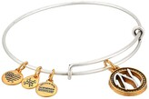 Alex and Ani Initial N Charm Bangle (Two-Tone) Bracelet