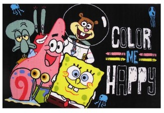 "Fun Rugs SpongeBob Color Me Happy Area Rug Rug Size: 3'3"" x 4'10"""